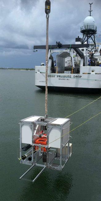 Un des 3 robots de l'expédition Five Deeps, capable d'atteindre 11 000 mètres de profondeur ©Five Deeps Expedition
