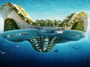 """Le projet de cité flottante """"Lilypad"""" proposé en 2013 par l'architecte Vincent Callebaut © Vincent Callebaut"""