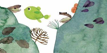 Illustration tirée de l'album jeunesse La maman des poissons © Lucie Albon / Fleur de ville, 2014