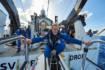 Victor Vescovo en équilibre sur le sous-marin