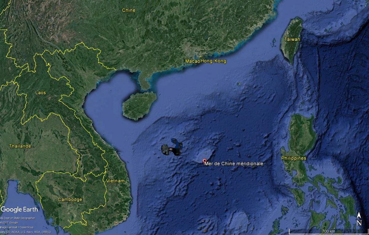 La mer de Chine méridionale est une zone sensible, théâtre de tensions entre ses différents pays côtiers (Chine, Vietnam…).