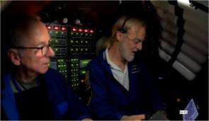 Jean-Louis Barbier et Victor Vescovo à bord du Limiting Factor © Caladan Oceanic