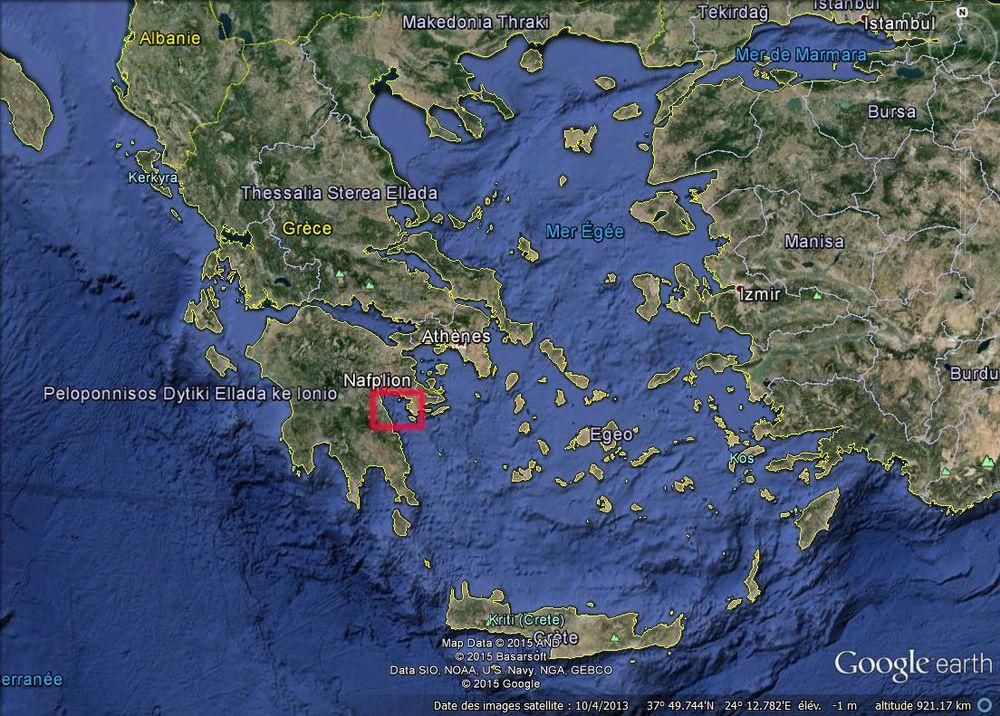 Une cité engloutie a été découverte dans le golfe de Nauplie en Grèce