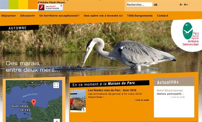 Cliquez ici pour accéder au site du Parc des marais du Cotentin et du Bessin