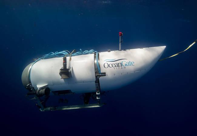 Le sous-marin Titan d'OceanGate plonge à 4 000 mètres de profondeur © OceanGate Inc.