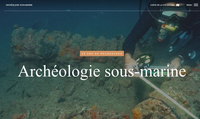 Cliquez sur l'image pour accéder au site Archéologie sous-marine