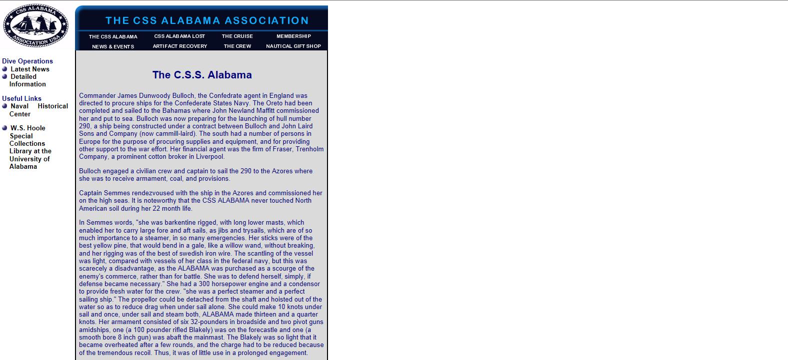 Cliquez sur l'image pour accéder au site The CSS Alabama Association