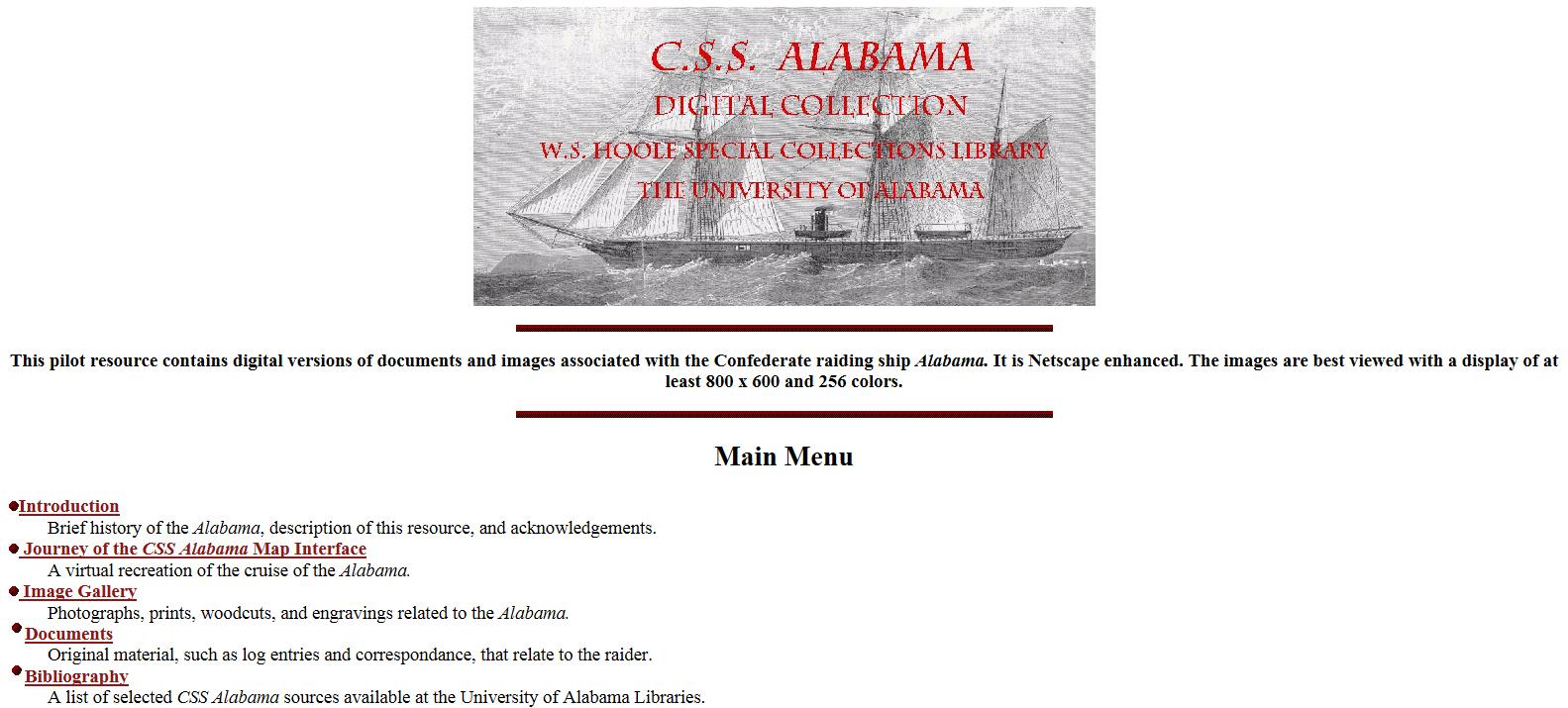 Cliquez sur l'image pour accéder au site de l'Université de l'Alabama