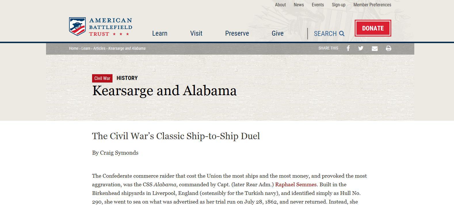 Cliquez sur l'image pour accéder au site The Civil War Preservation Trust
