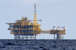 Plateforme offshore du projet Castor © Lluís Gené - AFP