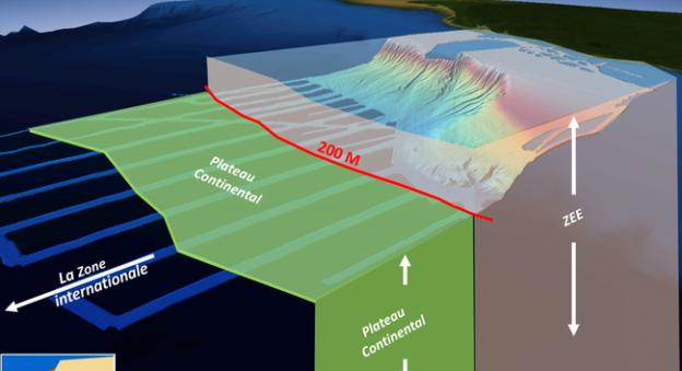 Dans le cadre du programme Extraplac, l'Ifremer a déterminé la limite géologique des plateaux continentaux des îles Saint-Paul, Amsterdam et de La Réunion. © Extraplac