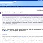 Contributions françaises au Livre Vert sur la politique maritime européenne