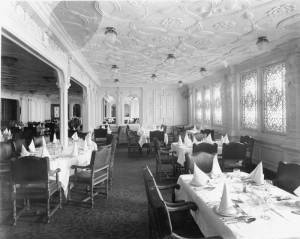 La salle à manger de 1re classe © Collection « Titanic The Ship Magnificent »
