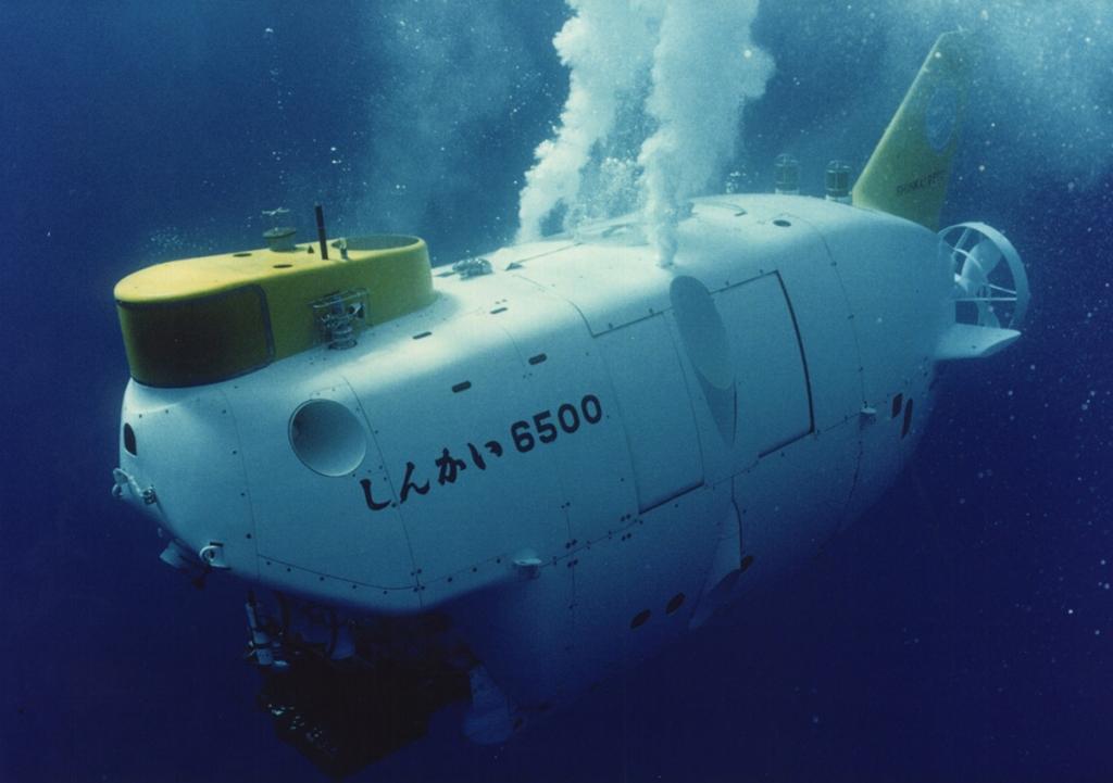 Le sous-marin japonais Shinkai 6500 en plongée © JAMSTEC