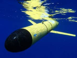 Le robot sous-marin américain Slocum Glider © Photo by Ben Allsup, Teledyne Webb Research