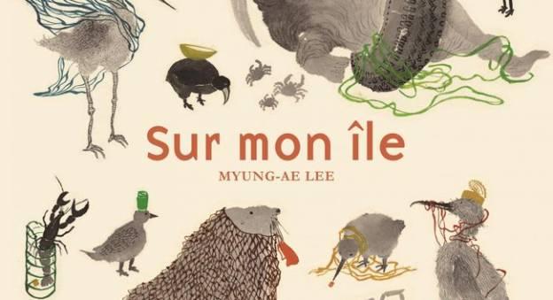 Illustration tirée de l'album Sur mon île de Myung-Ae Lee © De La Martinière Jeunesse, 2019.