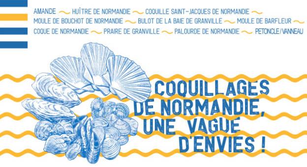 Affiche Coquillages de Normandie une vague d'envie © CRC Normandie-Mer du Nord / NFM