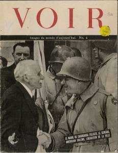 La presse au lendemain de la libération de Cherbourg