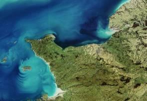 La Normandie photographiée par le satellite Envisat © Agence Spatiale Européenne